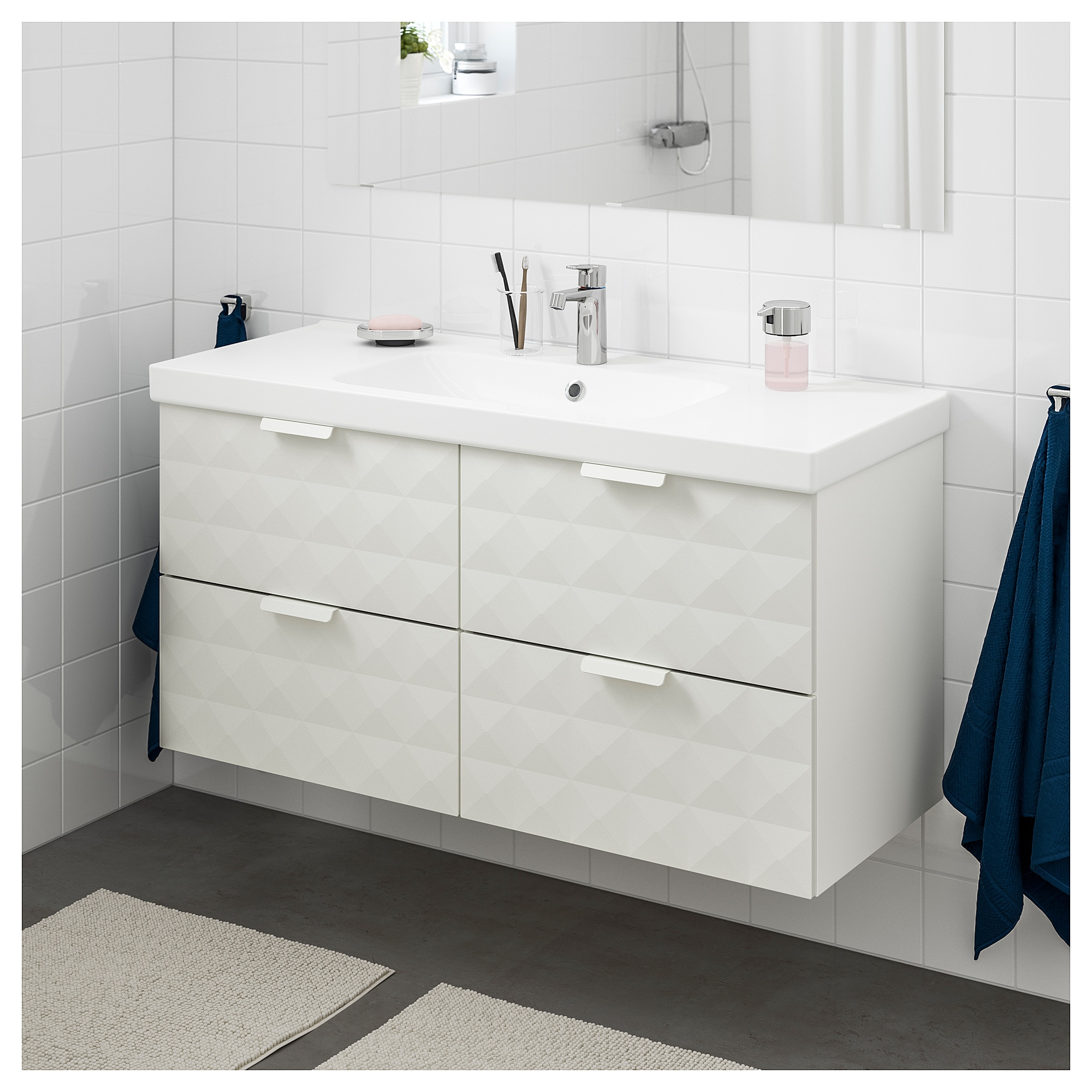 Godmorgon Odensvik Sink Cabinet With 4 Drawers High Gloss Gray  # Muebles En New Haven Ct
