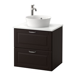 Morgon Tolken Kattevik Sink Cabinet With Top 15¾ Kasjön Dark