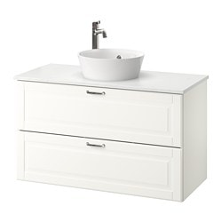 Morgon Tolken Kattevik Sink Cabinet With Top 15¾ Kasjön White