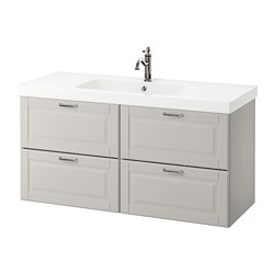 GODMORGON /  ODENSVIK wash-stand with 4 drawers, Kasjön light grey