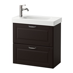 GODMORGON /  HAGAVIKEN sink cabinet with 2 drawers, Kasjön dark gray