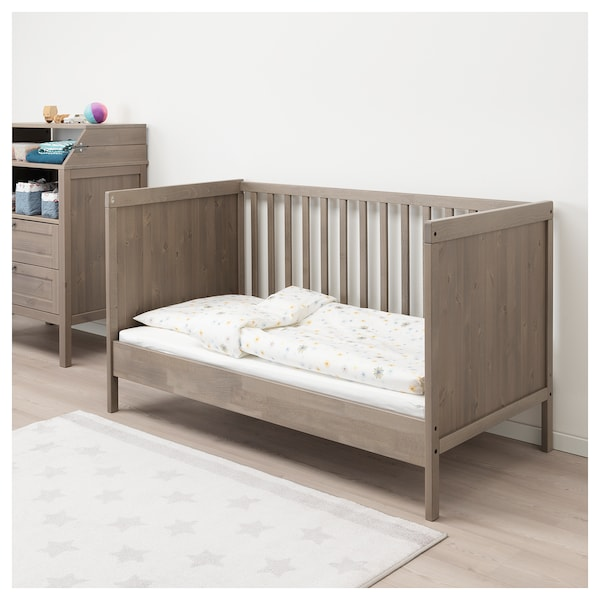 sundvik babybett graubraun ikea. Black Bedroom Furniture Sets. Home Design Ideas