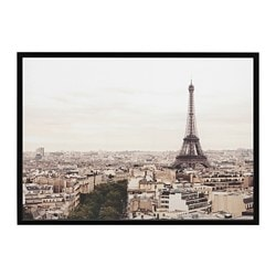 BJÖRKSTA picture with frame, Paris city, black