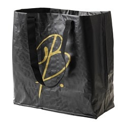 OMEDELBAR carrier bag, medium, black