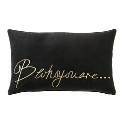 OMEDELBAR cushion cover, black