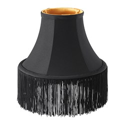 OMEDELBAR pendant lamp shade, black