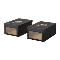 OMEDELBAR shoe box, black