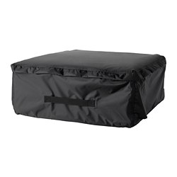 TOSTERÖ, Storage bag for pads and cushions, black