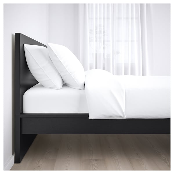 malm bettgestell hoch schwarzbraun lur y ikea. Black Bedroom Furniture Sets. Home Design Ideas