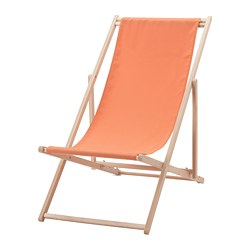 MYSINGSÖ beach chair, pale orange