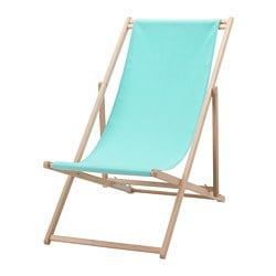MYSINGSÖ beach chair, turquoise