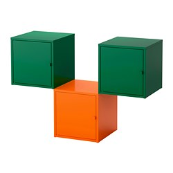 LIXHULT storage combination, orange, dark green