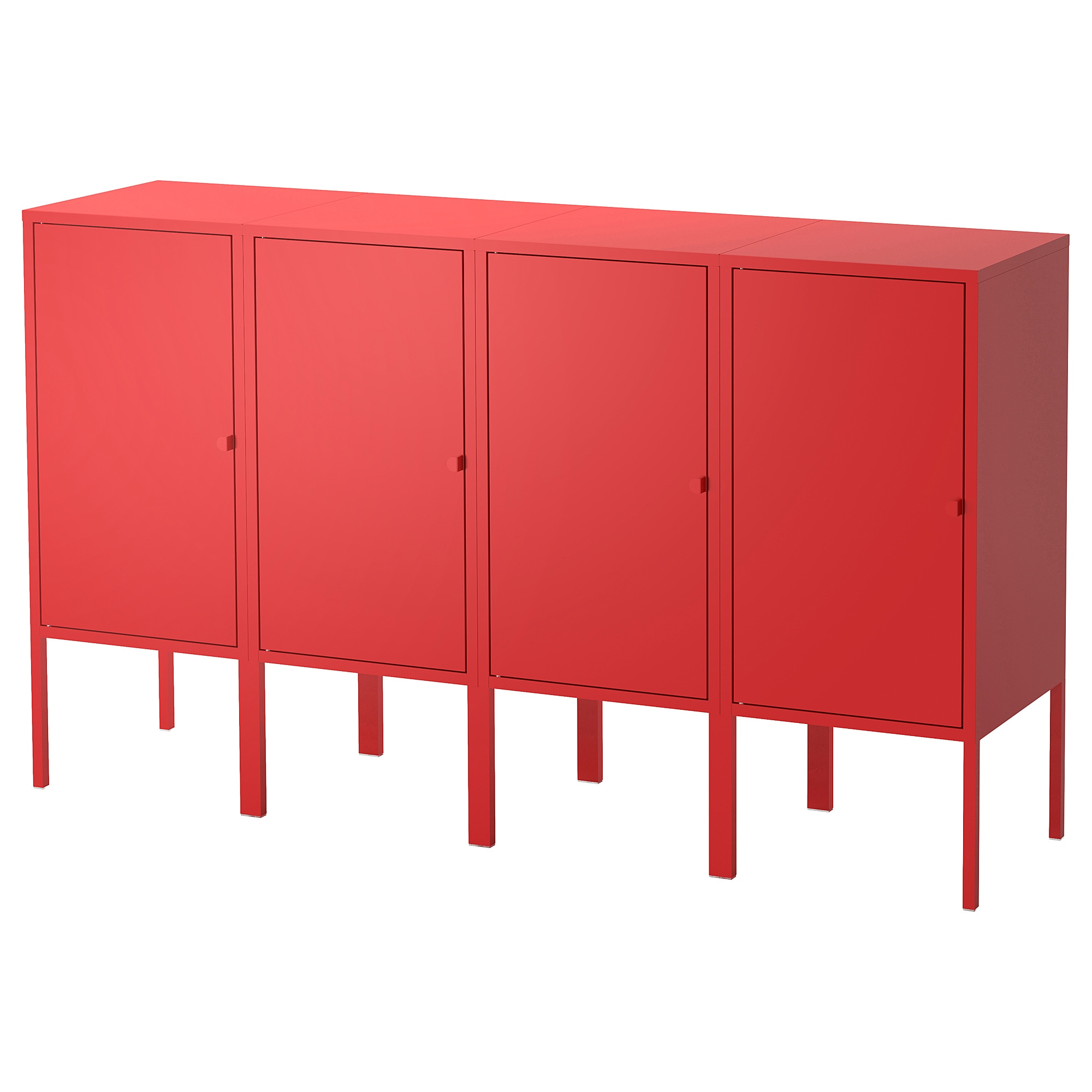 LIXHULT storage combination, red Width: 55 1/8