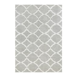 "HILLESTED rug, low pile, gray/white Length: 9 ' 10 "" Width: 6 ' 7 "" Length: 300 cm Width: 200 cm"