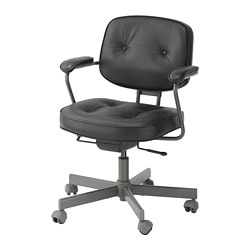 ALEFJÄLL swivel chair, Glose black
