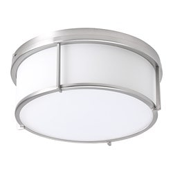 KATTARP ceiling lamp, glass nickel plated