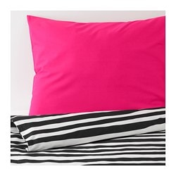 URSKOG duvet cover and pillowcase(s), zebra, stripe
