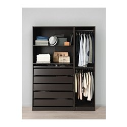 Genial PAX Wardrobe, Black Brown