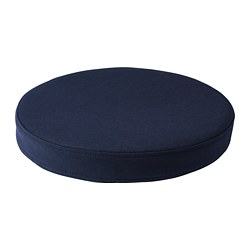 OMTÄNKSAM chair cushion, Orrsta black-blue