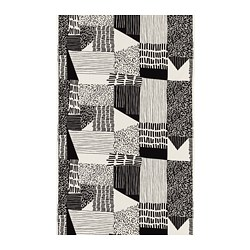 INGVILL fabric, white, black