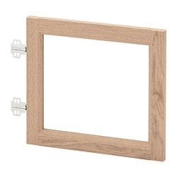 OXBERG glass door, white stained oak veneer