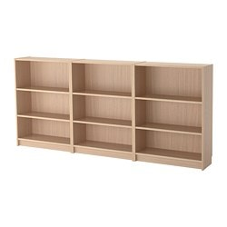 BILLY bookcase, white stained oak veneer