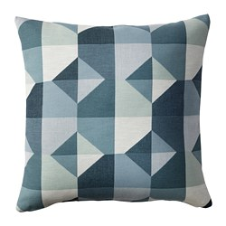 SVARTHÖ cushion cover, green/blue