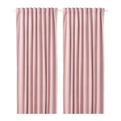 SANELA room darkening curtains, 1 pair, light pink