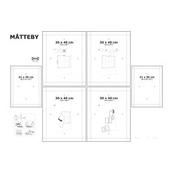 MÅTTEBY wall template, set of 4