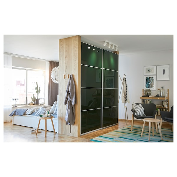 pax kleiderschrank wei hokksund hokksund hochglanz dunkelgr n ikea. Black Bedroom Furniture Sets. Home Design Ideas