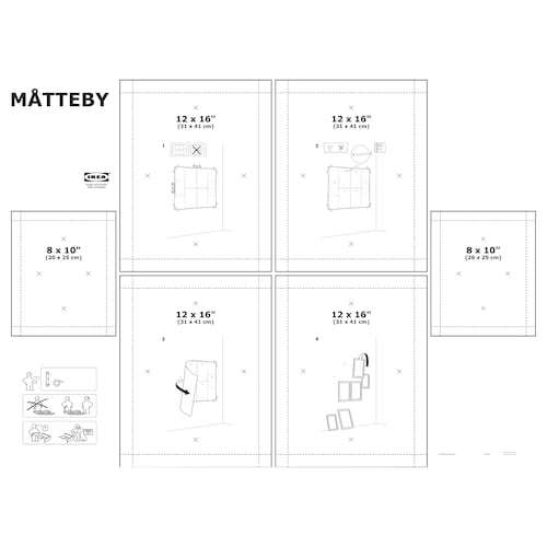 IKEA MÅTTEBY Wall hanging template, set of 4