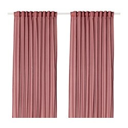 VIVAN curtains, 1 pair, pink