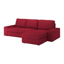 KIVIK, Sofa, with chaise, Orrsta red