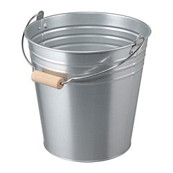 SOCKER bucket/plant pot, in/outdoor, galvanised