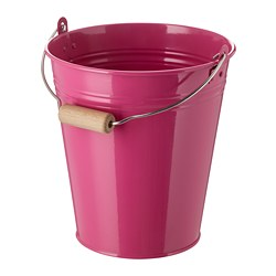 SOCKER bucket/plant pot, in/outdoor, pink