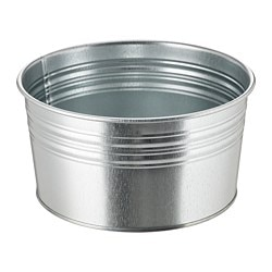 SOCKER plant pot, in/outdoor, galvanised