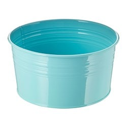 SOCKER plant pot, in/outdoor, turquoise