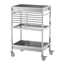 KUNGSFORS kitchen trolley, stainless steel