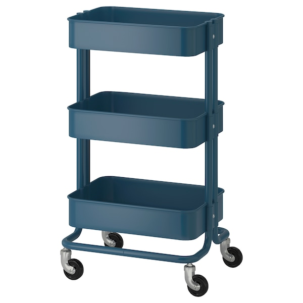 Raskog Utility Cart Dark Blue Ikea