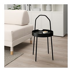 BURVIK side table, black