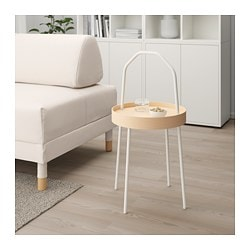BURVIK side table, white