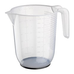 BEHÖVA measuring jug, transparent, grey
