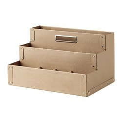 FJÄLLA desk organiser, natural colour/beige