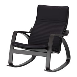 POÄNG rocking-chair, black-brown, Knisa black