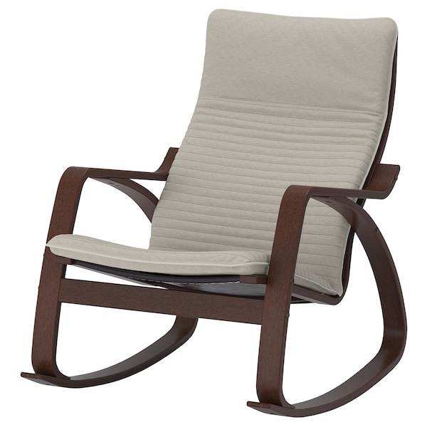 Po 196 Ng Rocking Chair Brown Knisa Light Beige Ikea