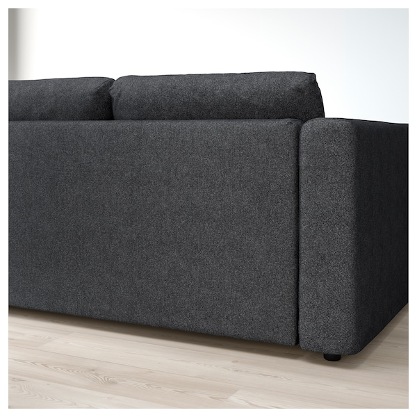 vimle 3er sofa tallmyra schwarz grau ikea. Black Bedroom Furniture Sets. Home Design Ideas