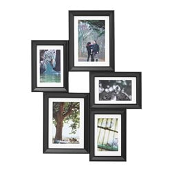 KNOPPÄNG, Collage frame for 5 photos, black