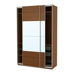 PAX wardrobe, brown stained ash effect, Auli Ilseng