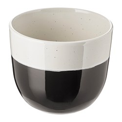 SOMMAR 2018 plant pot, dark grey in/outdoor dark grey