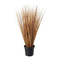 FEJKA artificial potted plant, grass brown